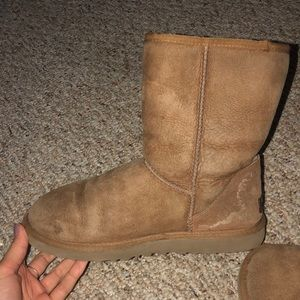 Ugg short chestnut boots